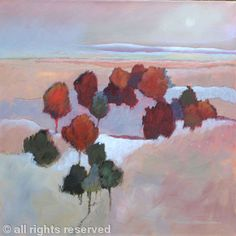 """Early Snow"" - by Sheila Marlborough - Acrylic on canvas"