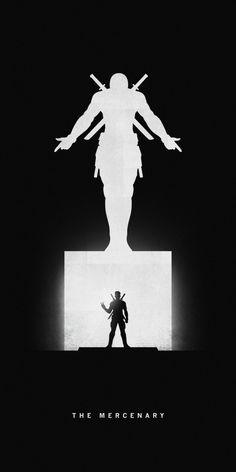 Affiches silhouettes de Khoa Ho - Deadpool