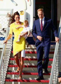 kate middleton yellow dress australia   kate-middleton-yellow-roksanda-ilincic-dress-prince-george-william ...