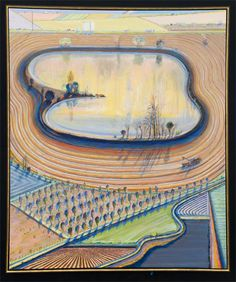 Fields and Furrow, Wayne Thiebaud