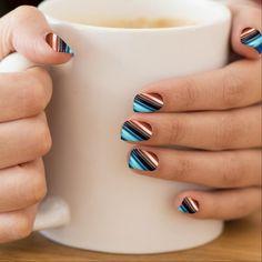 Shop Fire Flames Finger Nails Art Minx Nail Wraps created by KJsNails. Black Nail Art, Pink Nail Art, Cool Nail Art, Blue Nails, Chevron Nails, Color Nails, Glitter Chevron, Monogram Nails, Gray Chevron