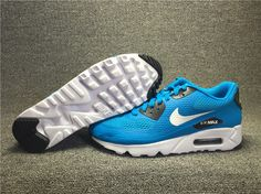 cf2a5b7929 Details about Mens Nike Air Max 90 Ultra Essential Men's Size 6 Black,  Blue, White