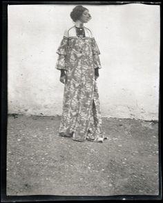 Emilie Floege in a reform dress Summer Dress Brauhof Litzlberg Lake Attersee Photograph by Gustav Klimt 1906 Emilie Flöge in einem HausKleid Aus der...