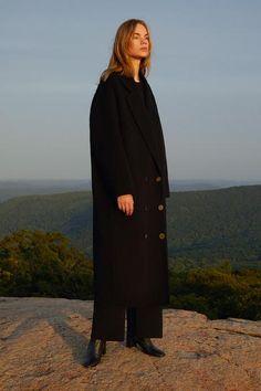 MANSUR GAVRIEL - Wool Oversized Coat - Black Oversized Coat, News Design, Cold Weather, Fitness Models, Raincoat, Normcore, Wool, Jackets, Shopping