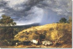 John Linnell - A coming storm - 1873
