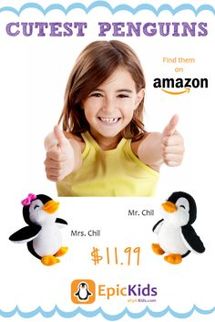EpicKids Penguin Plush - Stuffed Animal Toy - Suitable for Babies and Children - 5 Inches Little Dolly, Outdoor Fun For Kids, Fun Arts And Crafts, Baby Penguins, Summer Activities For Kids, Kid Spaces, Baby Care, Phonics, Pet Toys