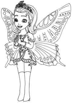 Sofia The First Coloring Pages: Princess Butterfly Sofia the First Coloring Page