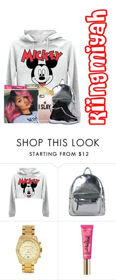 """""""hey bighead//dm remix"""" by kiingmiyah ❤ liked on Polyvore featuring Asya Malbershtein, Michael Kors, Too Faced Cosmetics and Casetify"""