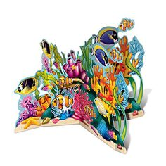Beistle 50272 3D Coral Reef StandUp 26 Multicolor * Check this awesome product by going to the link at the image.