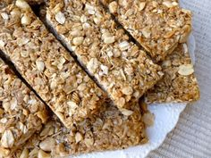 Crunchy Peanut Butter Granola Bars Recipe Breakfast and Brunch with unsalted dry roast peanuts, rolled oats, quick-cooking oats, canola oil, salt, honey, light brown sugar, vanilla, cinnamon, peanut butter