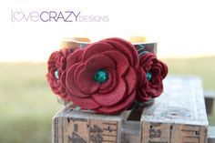 1+1/2+inch+leather+cuff+with+red+leather+by+LoveCrazyDesigns,+$48.00