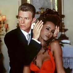 The incredible David Bowie & Iman. Both are just stunning!