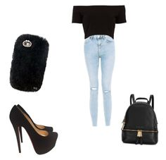 """""""Love"""" by mwelch06 ❤ liked on Polyvore featuring New Look, Christian Louboutin and Michael Kors"""