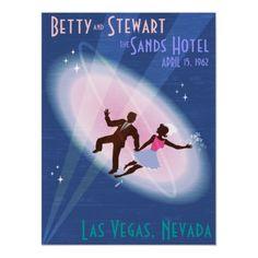 Vintage Vegas Wedding Commemorative Poster