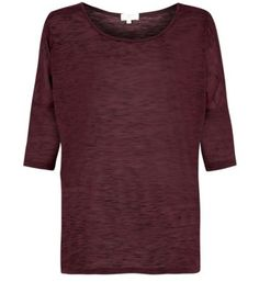 Burgundy Slub Batwing Top