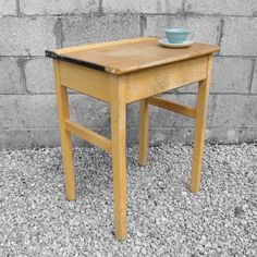 1950s Single School Desk
