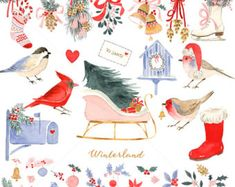 Watercolor Nutcracker Christmas Clip Art for by ReaniDesigns