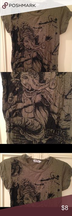 Indian Ganesha Elephant God Graphic T-Shirt sz Sm Worn gently - in great condition. Ships quickly from non smoking home. Please message with any questions! Tops Tees - Short Sleeve