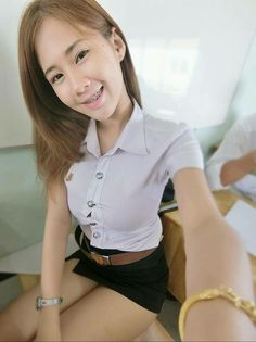3ae14bf94e9 609 Best Thai Student images in 2019 | Mini skirts, Leggings, Navy ...