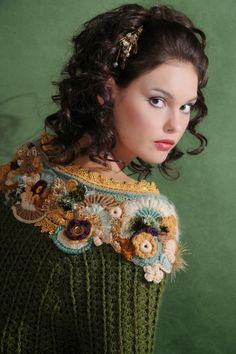 Fabulous Crochet a Little Black Crochet Dress Ideas. Georgeous Crochet a Little Black Crochet Dress Ideas. Crochet Woman, Love Crochet, Irish Crochet, Knit Crochet, Freeform Crochet, Crochet Stitches, Crochet Patterns, Crochet Collar, Crochet Blouse