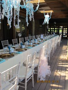 Destination Wedding Blog — Personal Touch Experience bridal shower, under the sea, mermaid, mermaid bride, mermaid bridal shower, under the sea shower for the bride to be, unique shower ideas, best bridal shower, best shower ideas, gorgeous, long table, table setting, beautiful table