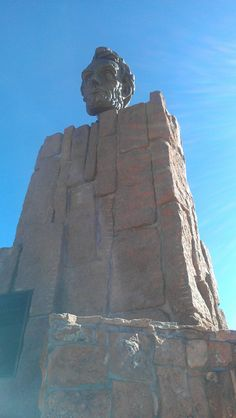 This is the Lincoln Monument off of Interstate 80 about 10 miles east of Laramie, Wyoming. It is by Medicine Bow forest.