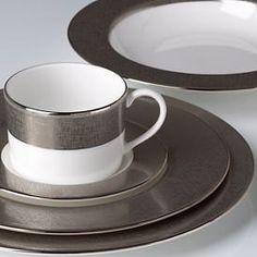 Platinum Voile Dinnerware by Donna Karan