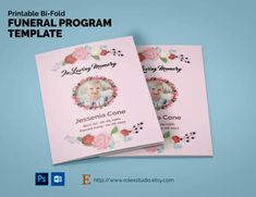 TriFold Funeral Program Template Printable  BiFold And TriFold