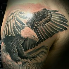 Eagle by Jesse Goetschius @gradeatattoos