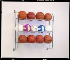 New Ball Sports Wall Mounting Shelving Unit Storage Solution Basketball Rack