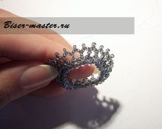 Russian language tutorial with lots of photos. Beaded Brooch, Beaded Rings, Beaded Bracelets, Jewelry Necklaces, Beaded Jewelry Designs, Beads And Wire, Beading Tutorials, Bead Weaving, Earrings Handmade