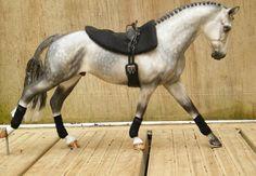 Drastic Custom Model Horse Resin Breyer Peter Stone Dapple Grey Vaulting Tack …
