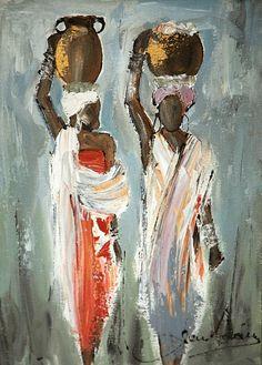 Shop Jen Adam on Fine Art Portfolio African Art Paintings, African Artwork, African American Art, African Women, Haitian Art, Batik Art, South African Artists, Africa Art, Fabric Painting