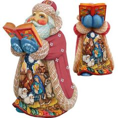 Features:  -Tabletop, limited edition numbered.  -Made in the USA.  -Derevo collection.  Quantity: -Individual Item.  Product Type: -Figurines & Collectibles.  Theme: -Santas.  Country of Manufacture: