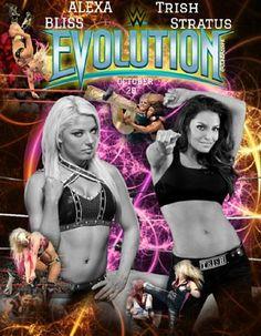 WWE Evolution PPV: Trish Stratus vs Alexa Bliss Wwe Events, Shayna Baszler, Mickie James, Trish Stratus, Nia Jax, Wwe Female Wrestlers, Wwe Stuff, Wrestling Divas, Wwe Womens