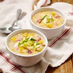 In this healthy corn chowder recipe, heavy cream is replaced with milk and flour-thickened chicken broth and we keep sodium amounts reasonable with lower-sodium broth.