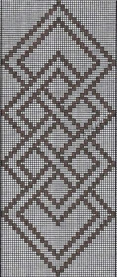 Hardanger Embroidery Patterns warp float knot - A full tutorial for this technique with step-by-step photos and video can be seen here. Here are the charts for two of the projects I presented in the Beyond Bands-Weaving Wide post. The first patt… Inkle Weaving, Inkle Loom, Tablet Weaving, Hardanger Embroidery, Cross Stitch Embroidery, Embroidery Patterns, Crochet Patterns, Cross Stitch Borders, Cross Stitching