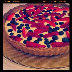 Royal raspberry tart from the I Quit Sugar Cookbook. FYI - also very popular with those not quitting sugar!