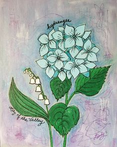 Acrylic Paint Pens, Acrylic Painting Canvas, Canvas Artwork, Cute Thank You Cards, Canvas Board, Lily Of The Valley, Beautiful Paintings, Handmade Art, Blossoms
