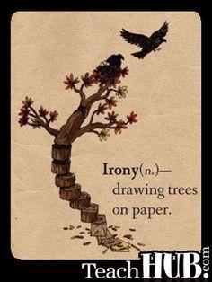 Irony...
