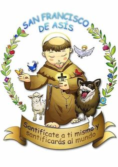 St Francisco, Jesus Christ, Christianity, Santa, Celestial, My Lord, Illustration, Saint Francis, Fictional Characters