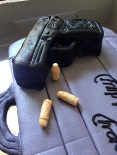 Gun cake Gun Cakes, Funny Birthday Cakes, Guys, Sons, Boys