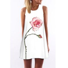 Vestidos 2017 New Style Summer Dress Sleeveless Floral Print Casual Women Dress Above Knee Plus Size Women Clothing Dresses