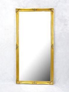 【アンティークゴールド 店舗什器に欠かせないアンティーク風大型鏡 アンティーク調立掛け式ミラー 復刻アンティーク家具ならアンティークそっくり市場 クラシック店舗什器 金色 ブティック アパレル】