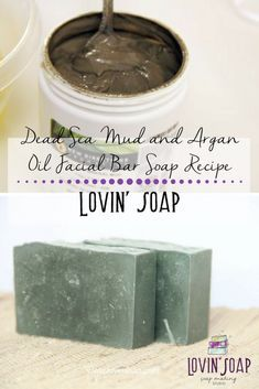 dead sea mud and argan oil soap - Soap | Handmade Soap | DIY Soap | Soap Making | Soapmaking | Learn to make soap | Natural Soap | Soap Recipe | Soap Tutorial