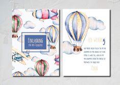 Dekoration   Einladungskarte Für Kinder Und Babys   A6   Ein Designerstück  Von Anna Weinhold