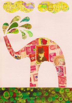 #Elephants - postage stamps