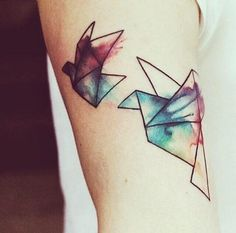 Basic lines+water color technique= amazingly beautiful tattoo