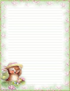 My printable stationary Creations 2 - Sophia Designs PenPal Stationery Printable Lined Paper, Free Printable Stationery, Lined Writing Paper, Writing Papers, Pretty Writing, Paper Art, Paper Crafts, Journal Cards, Junk Journal