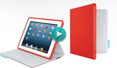 Fabric Keyboard Folio - This folio-style case cradles iPad to protect both its touch screen and back panel, just like the cover of a book. A magnetic clasp keeps the folio closed when you move around. Because no part of your iPad should be left unprotected.